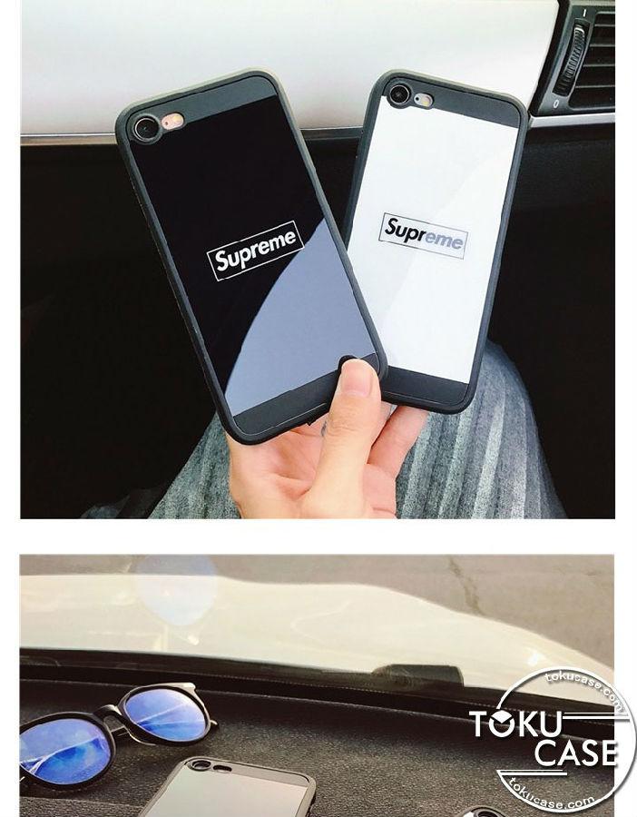 シュプリーム iPhoneX/8ケース 鏡面