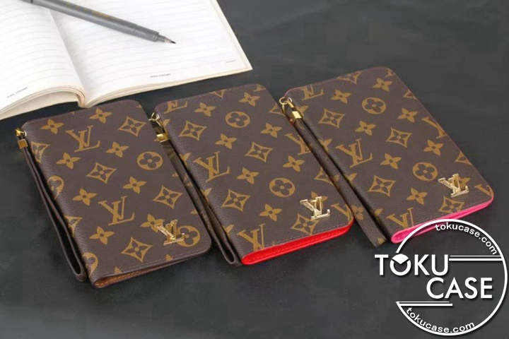 LV iphone8手帳ケース 接着取り付け