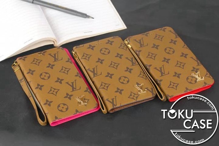 LV iphone7s plus手帳ケース 接着取り付け