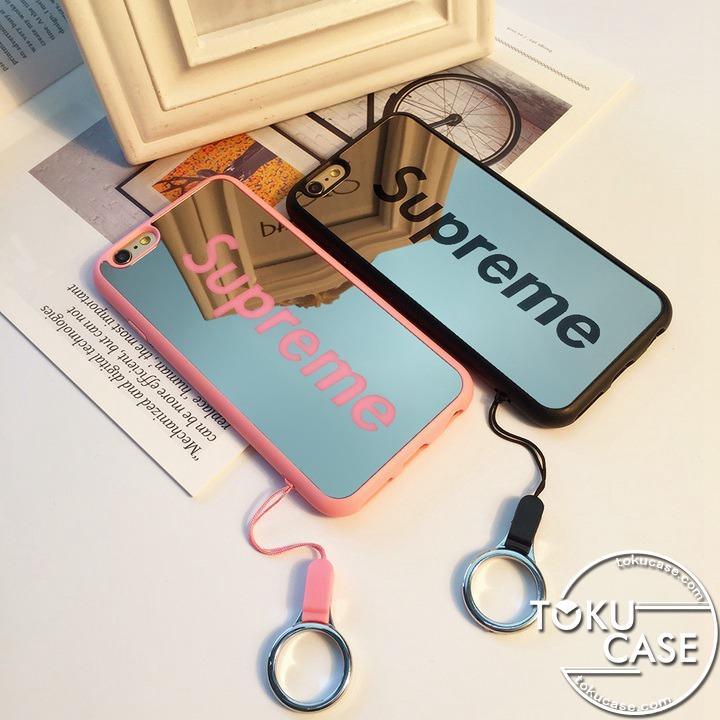 SUPREME iphone8ケース ミラー付き ペア