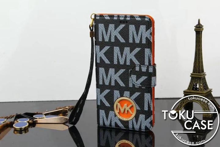 MK iphone8ケース 手帳型 エナメル