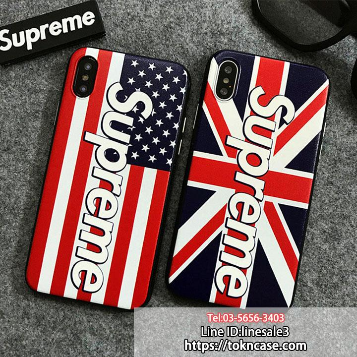 SUPREME iphoneX iphone8 ケース 国旗柄
