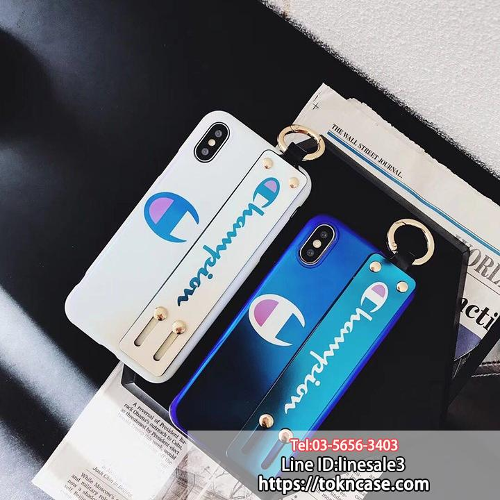 Champion iPhoneX/X Plus ケース ハンドベルト付き スタンド機能