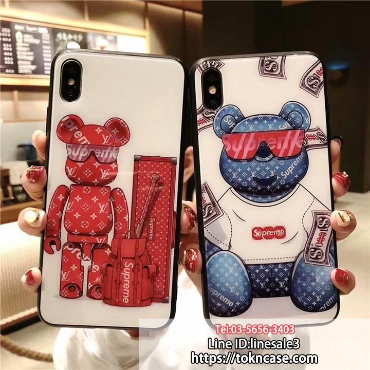 ヴィトン シュプリーム iPhone XS/XS Max ケース 背面ガラス